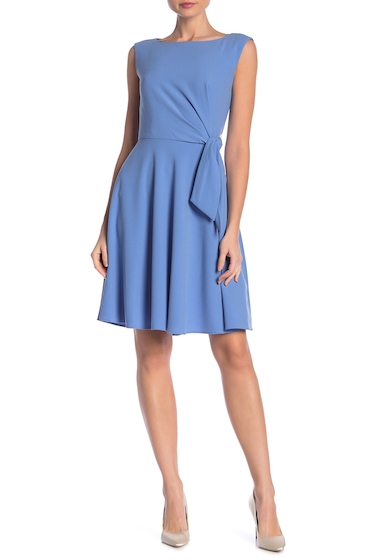 Imbracaminte Femei Tahari Side Tie Crepe Dress PERIWINKLE