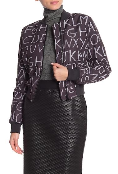 Imbracaminte Femei LOVE Moschino Front Zip Print Jacket PRBLACKBOARD