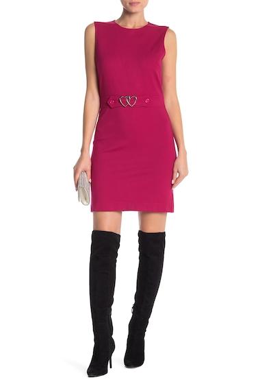 Imbracaminte Femei LOVE Moschino Front Metal Logo Sleeveless Dress FUXIA