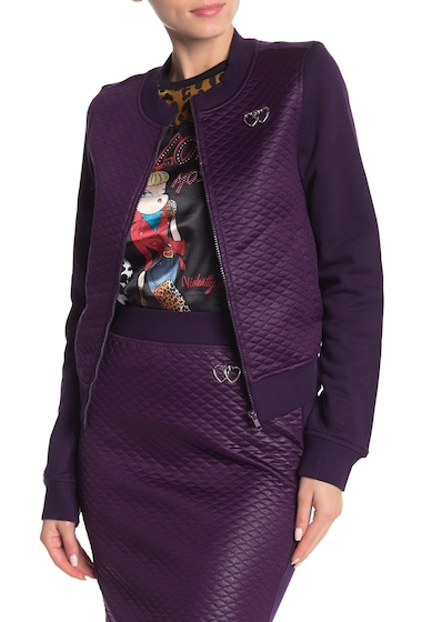 Imbracaminte Femei LOVE Moschino Front Zip Quilted Jacket VIOLET