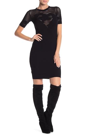 Imbracaminte Femei LOVE Moschino Short Sleeve Knit Dress BLACK