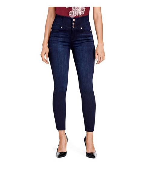 Imbracaminte Femei GUESS Chelysa High-Rise Skinny Jeans rinse
