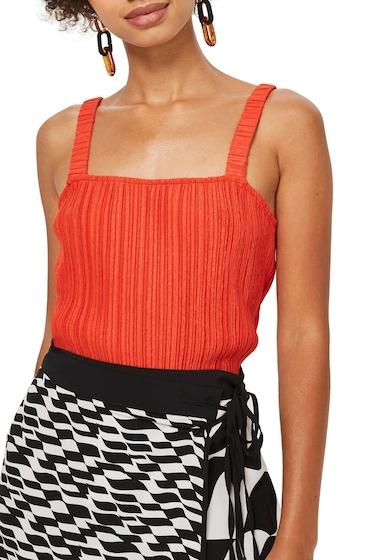 Imbracaminte Femei TOPSHOP Crinkle Camisole RED