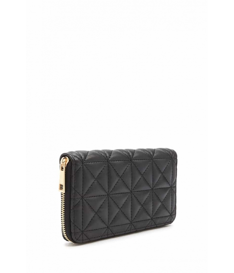 Genti Femei Forever21 Channel-Quilted Coin Purse BLACK