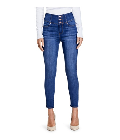 Imbracaminte Femei GUESS Chelysa High-Rise Skinny Jeans medium wash