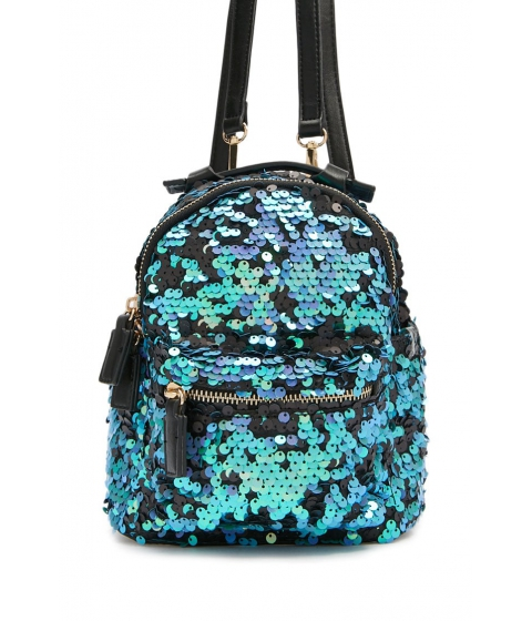 Genti Femei Forever21 Sequin Mini Backpack TEAL