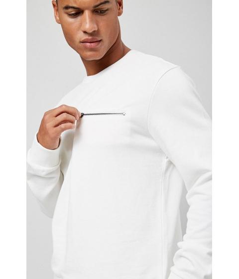 Imbracaminte Barbati Forever21 French Terry Zip-Pocket Sweatshirt CREAM