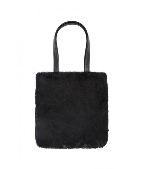 Genti Femei Forever21 Faux Fur Tote Bag BLACK