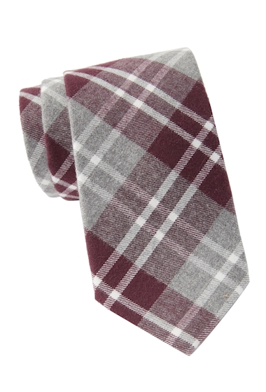 Accesorii Barbati Tommy Hilfiger Large Heathered Check XL Tie BURGUNDY