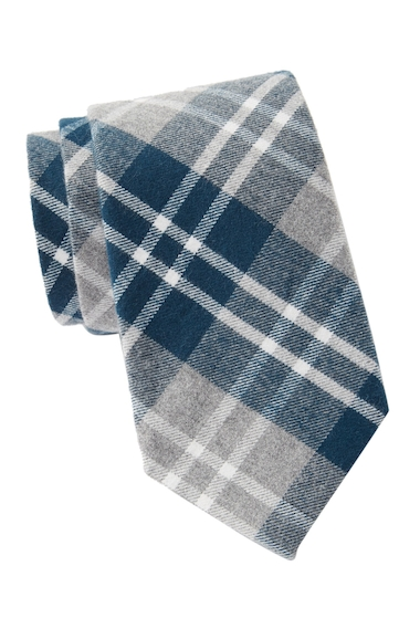 Accesorii Barbati Tommy Hilfiger Large Heathered Check Tie NAVY