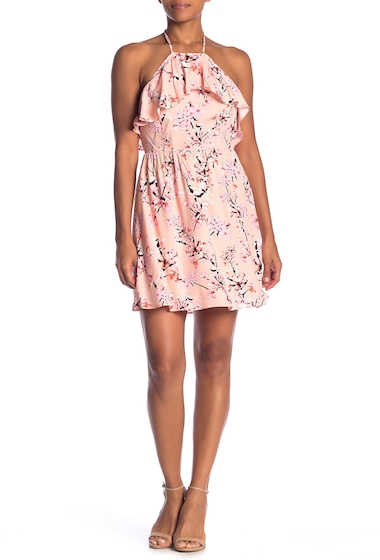 Imbracaminte Femei cupcakes and cashmere Corralyn Floral Print Halter Dress PEACH PARF