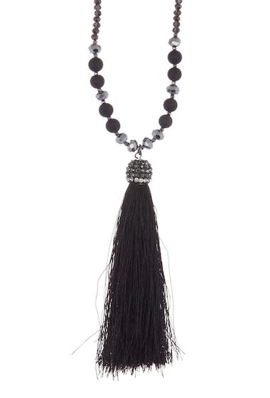 Bijuterii Femei Melrose and Market Agate Druzy Tassel Pendant Necklace BLACK- GOLD