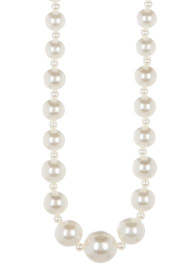 Bijuterii Femei Natasha Accessories Long Imitation Pearl Strand Necklace IVORY