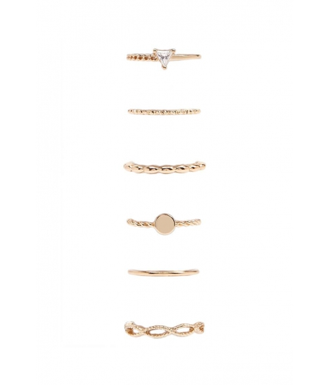 Bijuterii Femei Forever21 Rhinestone Coin Ring Set GOLD