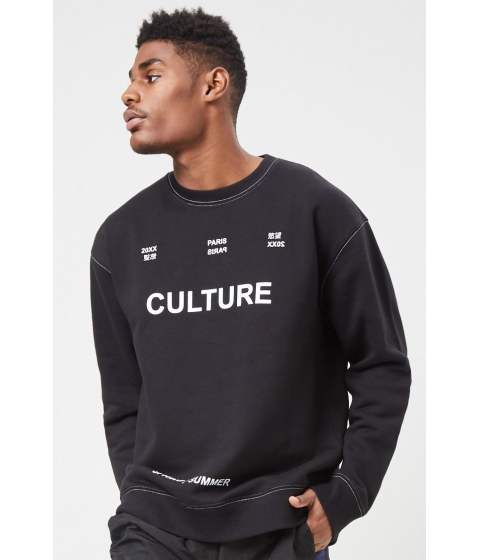 Imbracaminte Barbati Forever21 Culture Graphic Sweatshirt BLACKWHITE