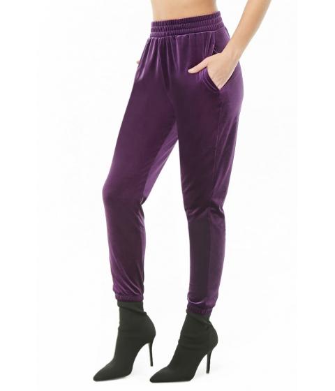 Imbracaminte Femei Forever21 Velvet Knit Joggers PURPLE