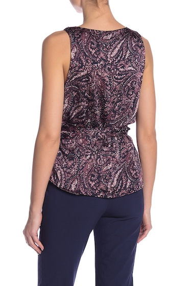 Imbracaminte Femei Vince Camuto Paisley Muse Wrap Front Ruffle Blouse CLASSIC NA