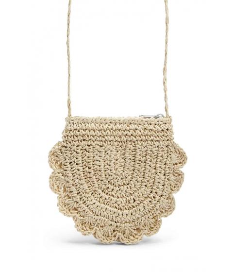 Genti Femei Forever21 Girls Scalloped Straw Bag (Kids) NATURAL