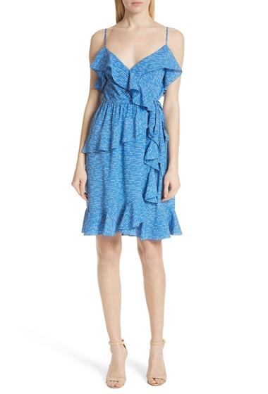 Imbracaminte Femei DEREK LAM 10 CROSBY Dash Stripe Ruffle Silk Sundress BALTIC