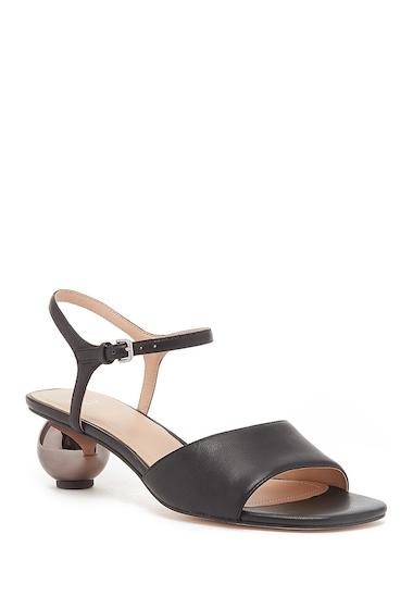 Incaltaminte Femei Pour La Victoire Dora Leather Sphere Heel Sandal BLACK