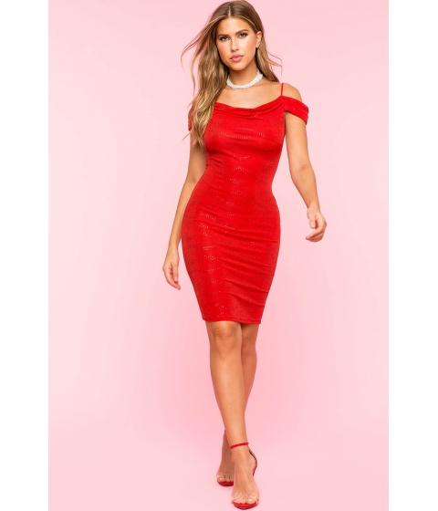 Imbracaminte Femei CheapChic Mindy Metallic Bodycon Dress Red