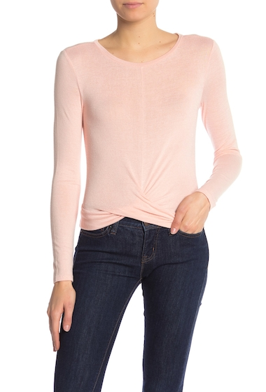 Imbracaminte Femei Abound Twist Front Long Sleeve Tee PINK ROSECLOUD