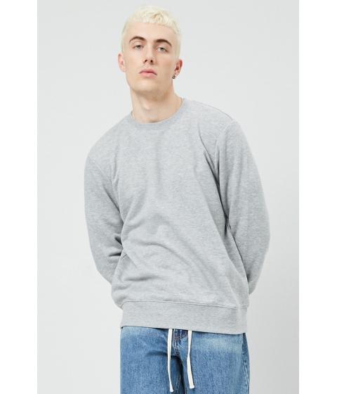 Imbracaminte Barbati Forever21 Relaxed Fleece Sweatshirt HEATHER GREY