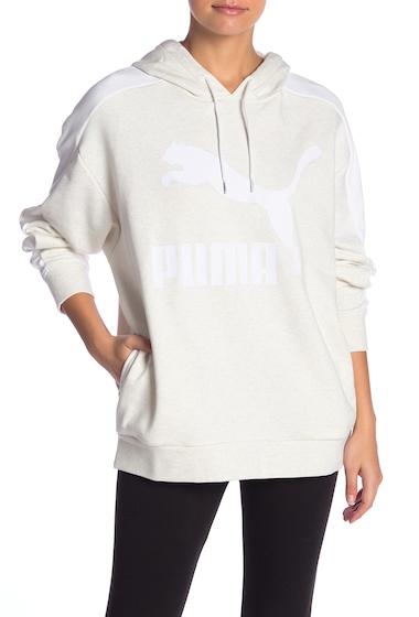 Imbracaminte Femei PUMA Classics Logo Stripe Hoodie WHITE