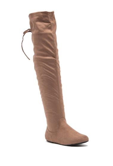 Incaltaminte Femei Top Moda Wonder Over-The-Knee Boot TAUPE