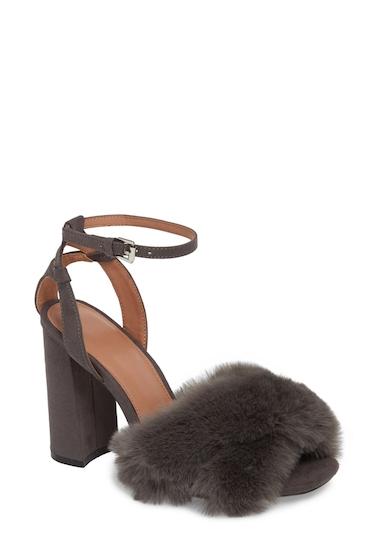 Incaltaminte Femei TOPSHOP Sassy Faux Fur Sandal Women GREY
