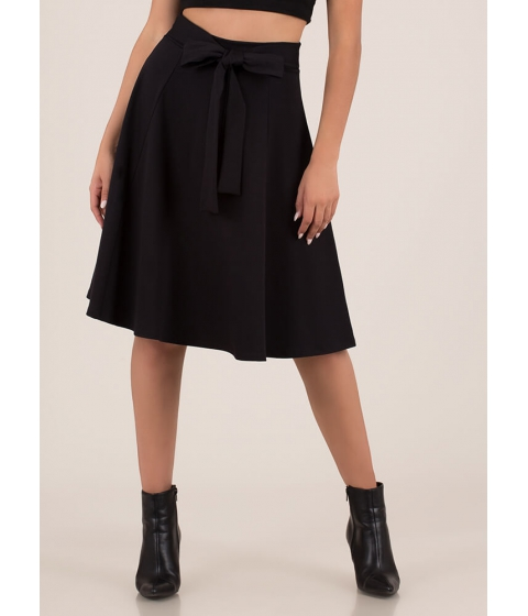 Imbracaminte Femei CheapChic European Vacation Tied Circle Skirt Black