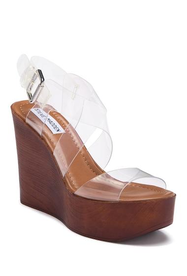 Incaltaminte Femei Steve Madden Poetic Clear Wedge Sandal CLEAR