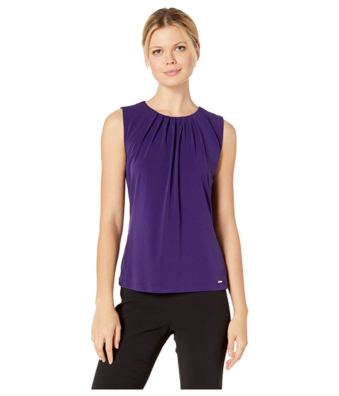 Imbracaminte Femei Calvin Klein Solid Pleat Neck Cami Night
