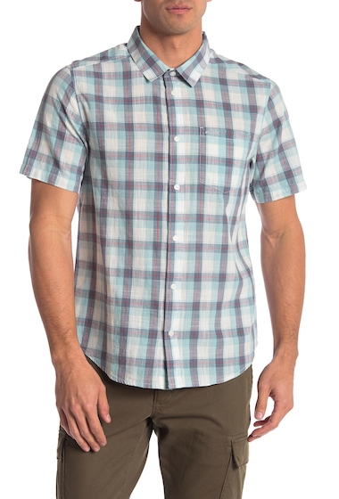 Imbracaminte Barbati RVCA Deep Plaid Short Sleeve Regular Fit Shirt COSMOS