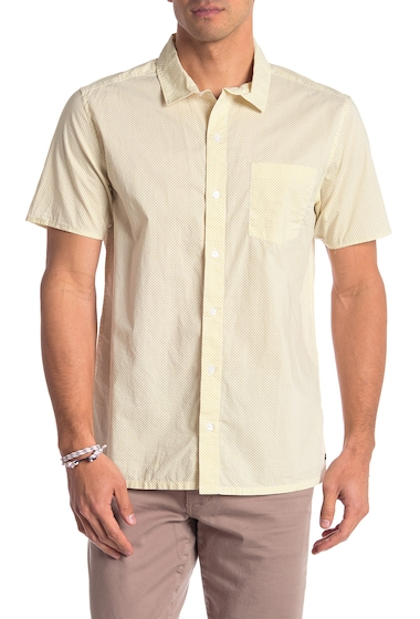 Imbracaminte Barbati RVCA Microdot Short Sleeve Shirt ANTIQUE WHITE