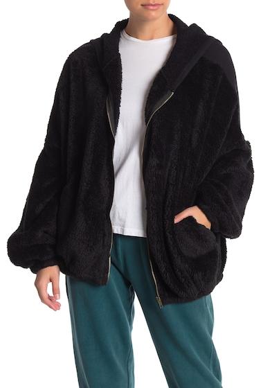 Imbracaminte Femei Vintage Havana Faux Fur Front Zip Up Hoodie BLK