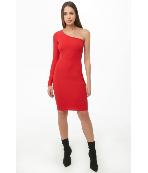 Imbracaminte Femei Forever21 One-Shoulder Mini Dress RED