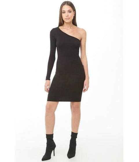 Imbracaminte Femei Forever21 One-Shoulder Mini Dress BLACK