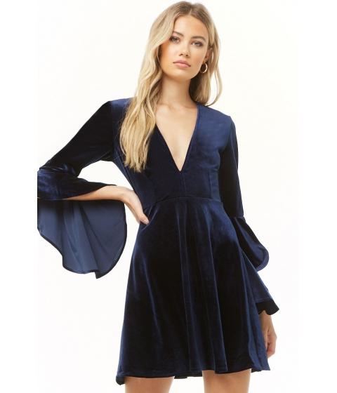 Imbracaminte Femei Forever21 Velvet Angel Sleeve Dress NAVY