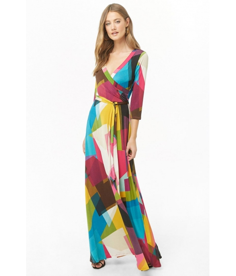 Imbracaminte Femei Forever21 Abstract Geo Print Maxi Dress FUCHSIAMULTI