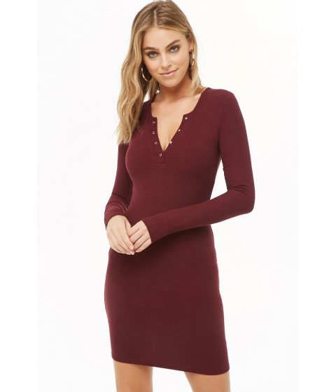 Imbracaminte Femei Forever21 Mini Sweater Dress BURGUNDY