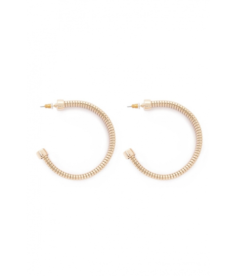 Bijuterii Femei Forever21 Flexible Segmented Hoop Earrings GOLD