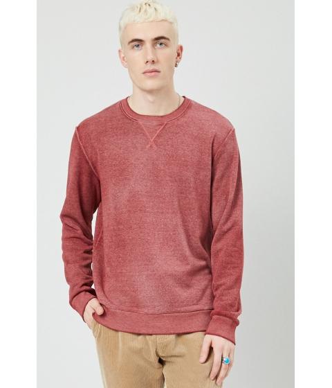Imbracaminte Barbati Forever21 Fleece Oil Wash Sweatshirt BURGUNDY