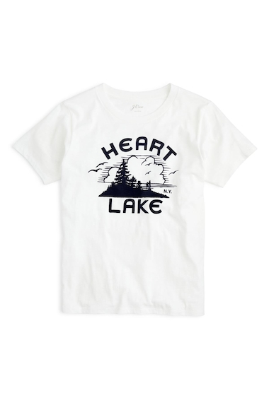 Imbracaminte Femei J Crew Heart Lake Tee PLASTER WHITE