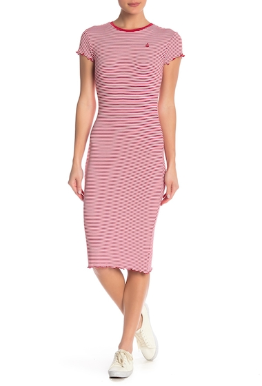 Imbracaminte Femei Volcom Colder Stripe Knit Midi Dress RED RAD