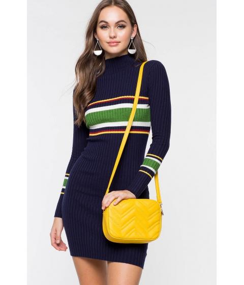 Imbracaminte Femei CheapChic Journey Ribbed Bodycon Dress Blue Pattern