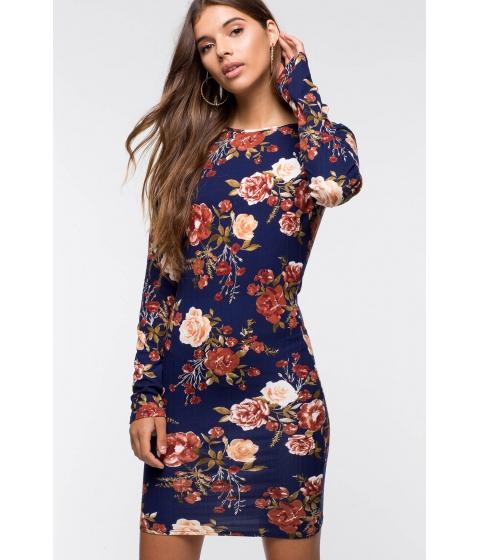 Imbracaminte Femei CheapChic Tia Floral Bodycon Dress Blue Print
