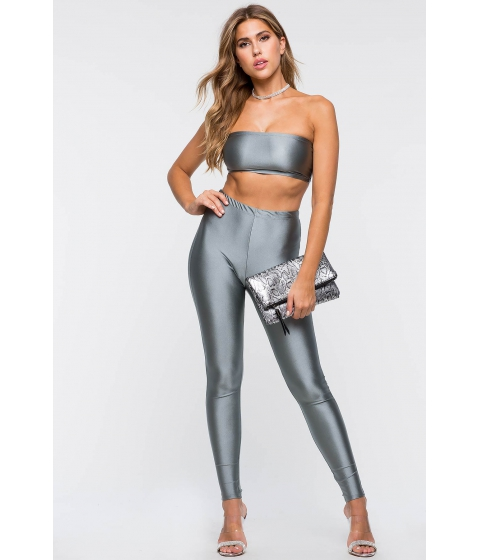 Imbracaminte Femei CheapChic Talk Is Cheap Two Piece Silver Gray