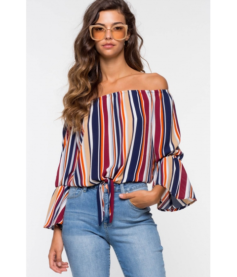 Imbracaminte Femei CheapChic Multi Stripe Off Shoulder Top Multi
