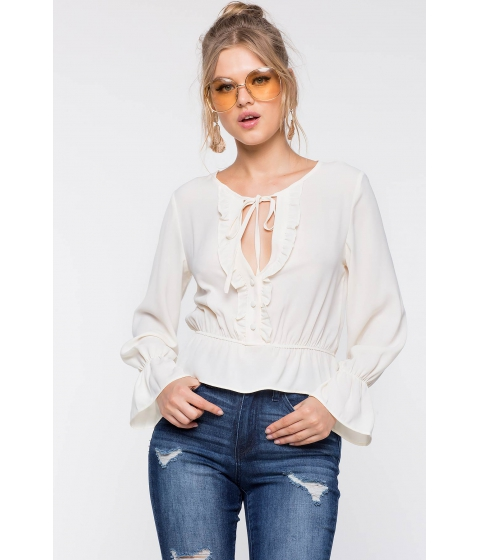 Imbracaminte Femei CheapChic Frills And Chills Blouse Ivory